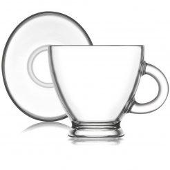 Xícara de chá vidro c/ Pires 225 ml