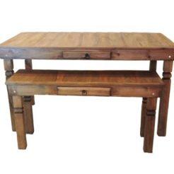 Aluguel de mesa rústica